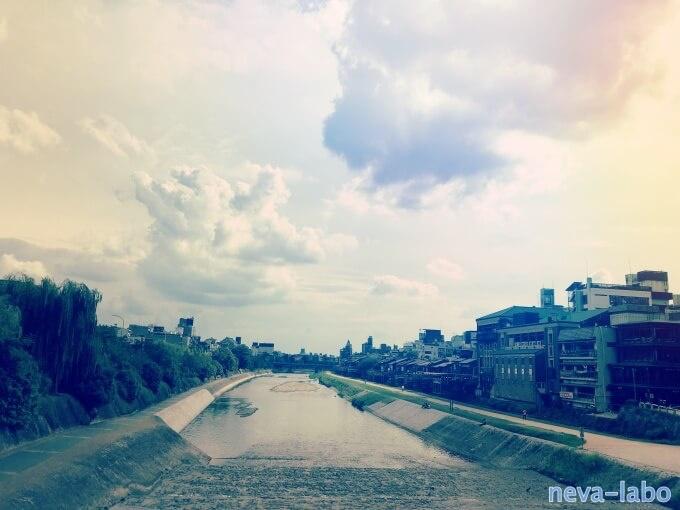 三条鴨川からの眺め